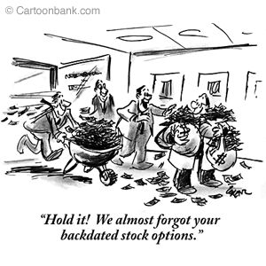 Backdating of stock option