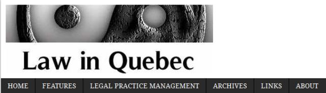 Law in Quebec.lawinquebec.com
